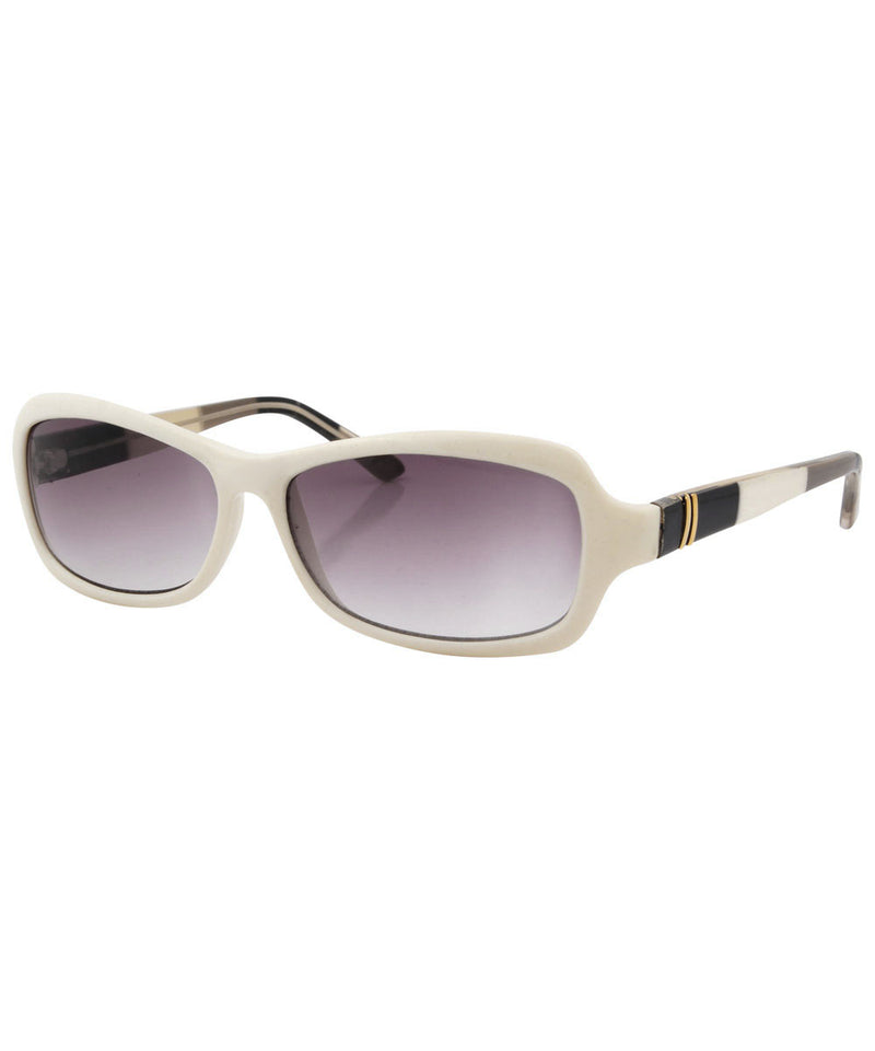 bitsy white sunglasses