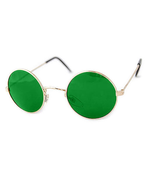 blackerby green gold sunglasses