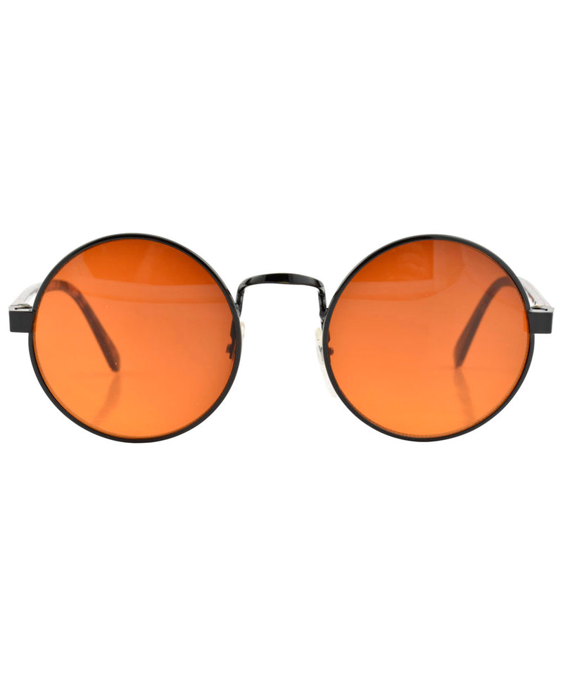 blackerby orange black sunglasses