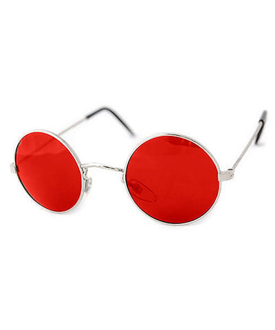 blackerby red silver sunglasses