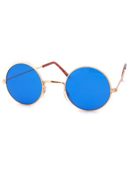 the blues gold sunglasses