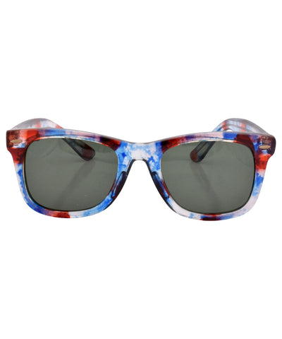 bob blue red sunglasses
