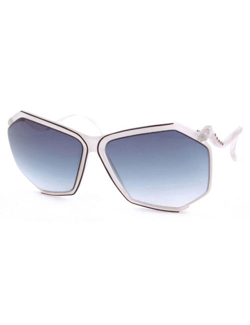 boogie white sunglasses