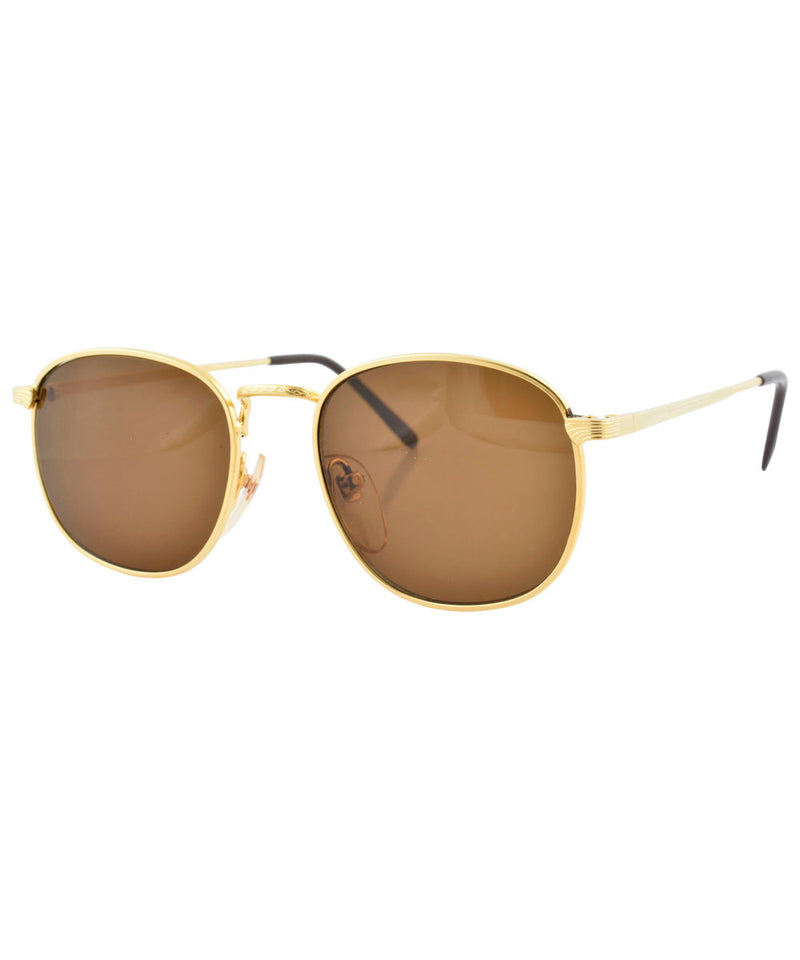 brigade gold brown sunglasses