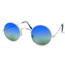 bright silver sunglasses
