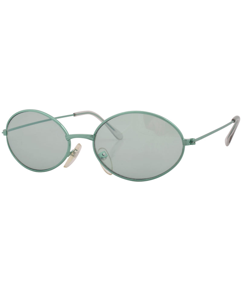bruce green green sunglasses