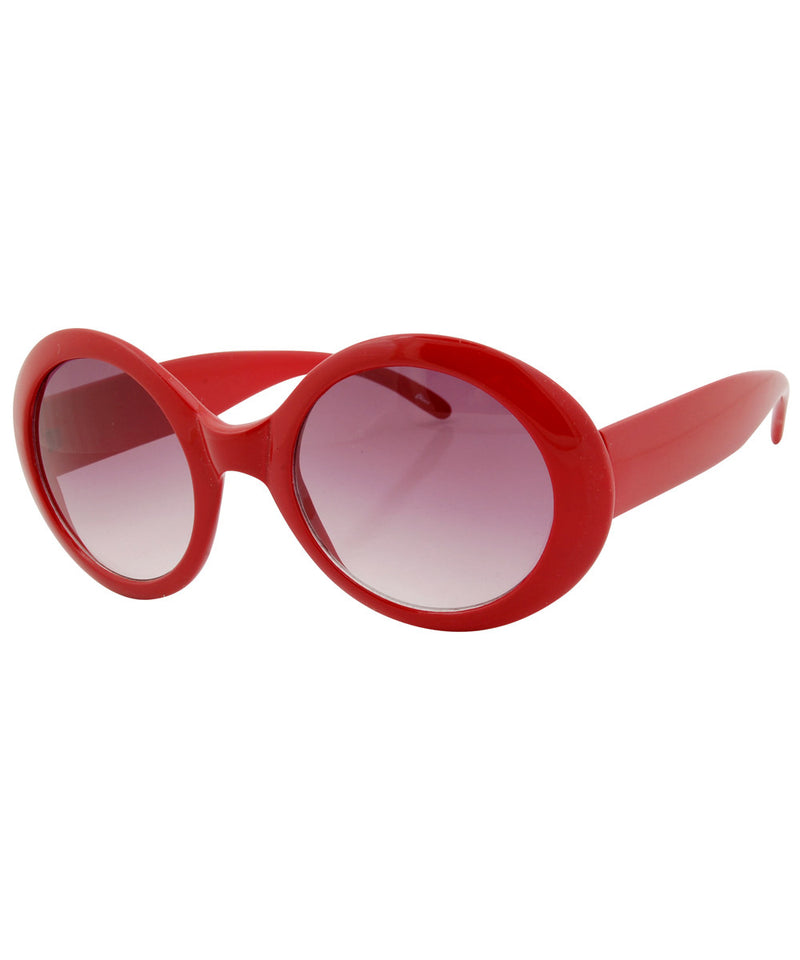 bubble red sunglasses