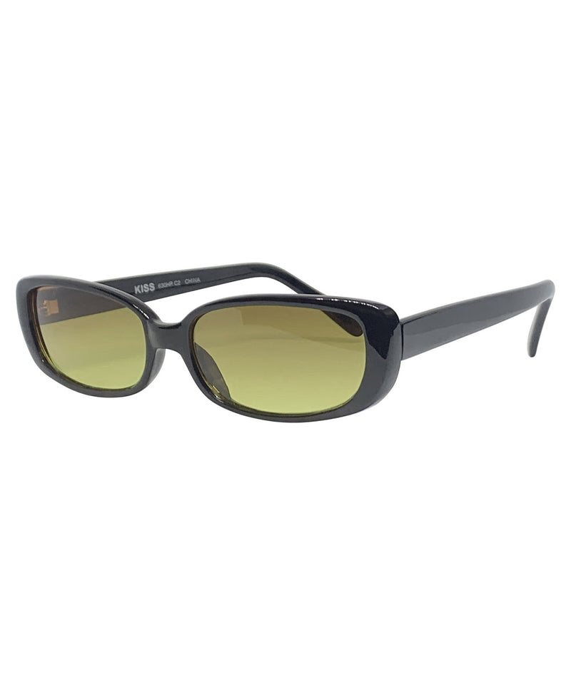 BUGGIN' Black and Swamp 90s Square Sunnies