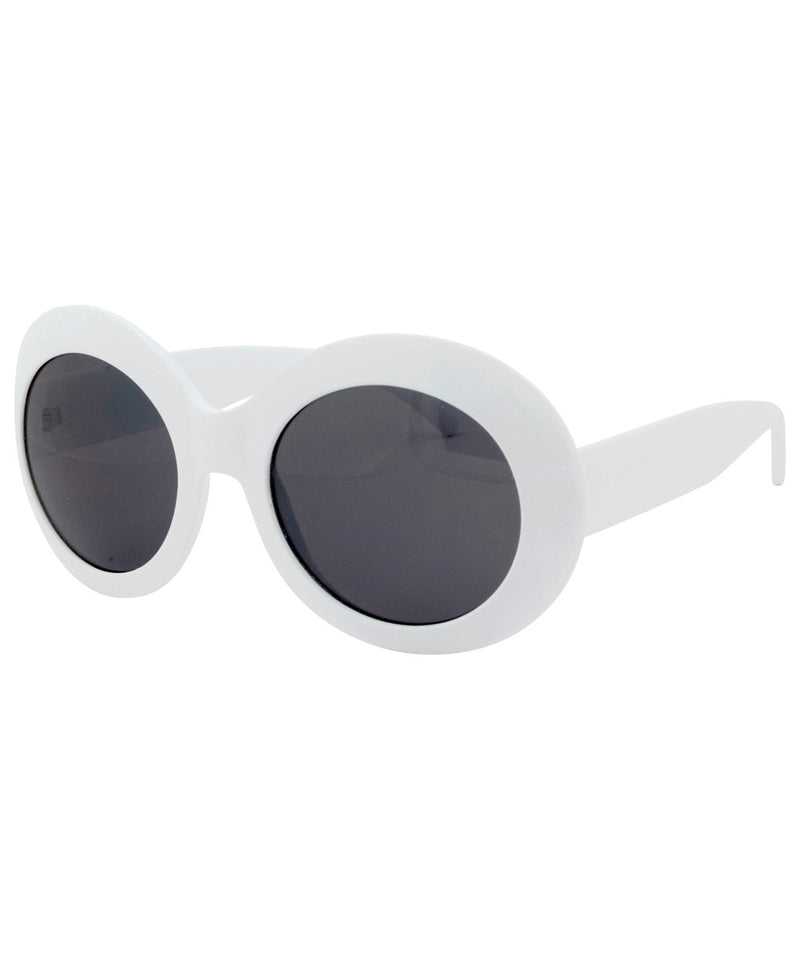 buggles white sunglasses