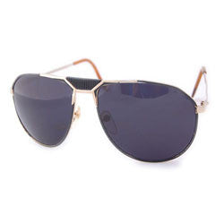 built gold black sunglasses
