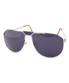 built gold blue sunglasses