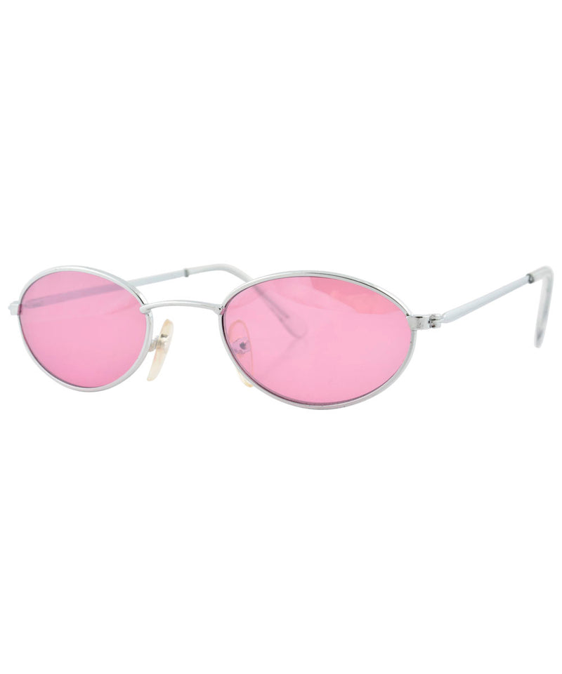 bump silver pink sunglasses