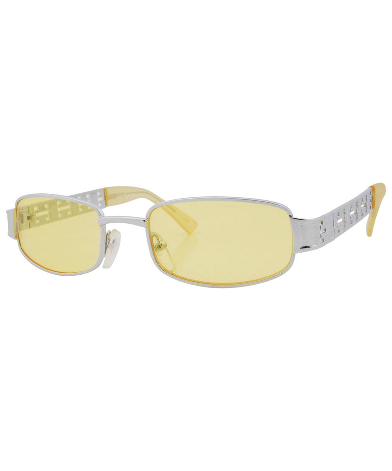 butabi silver yellow sunglasses