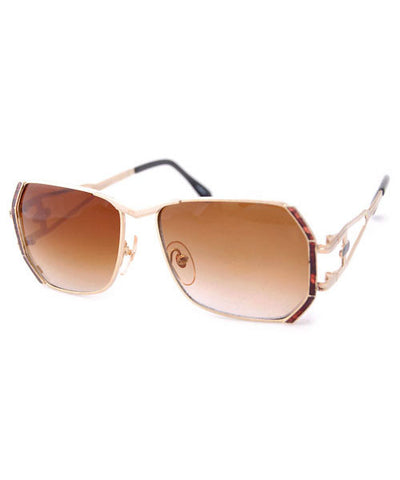 butters gold amber sunglasses