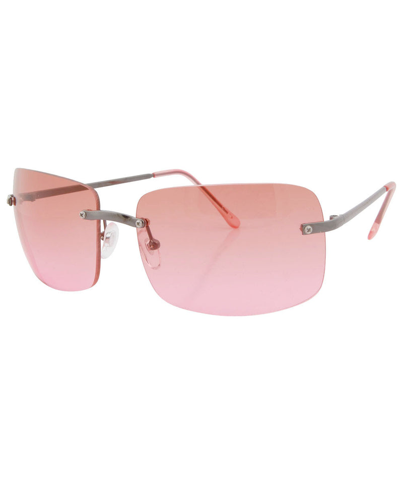 buzzed pink sunglasses