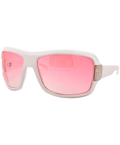 cassyette white sunglasses