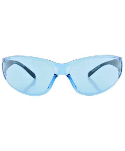 catched blue sunglasses