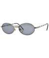 chambered gunmetal sunglasses