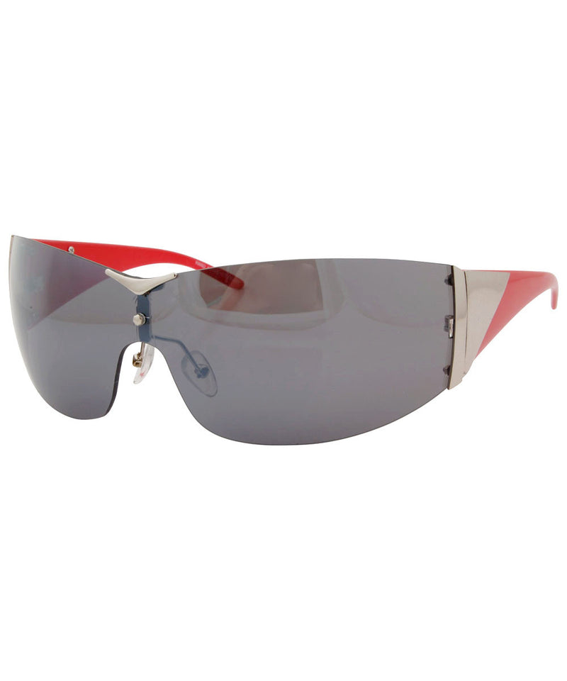 charged red smoke sunglasses