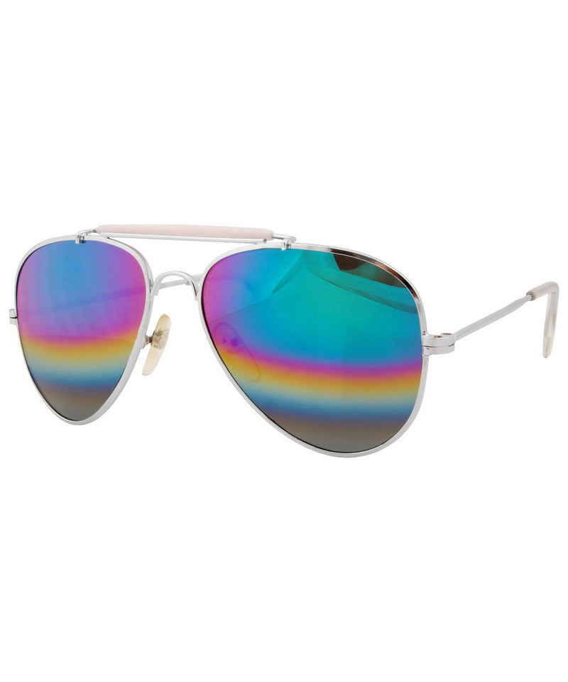 cheeks silver sunglasses