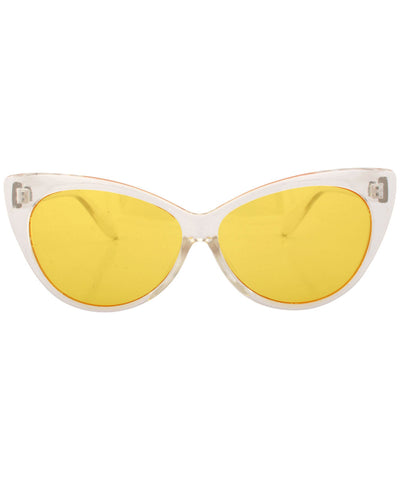 chick a dee crystal yellow sunglasses