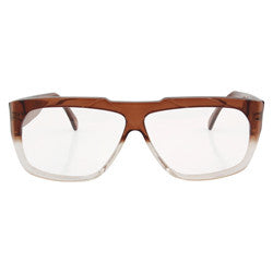 chilled brown clear sunglasses
