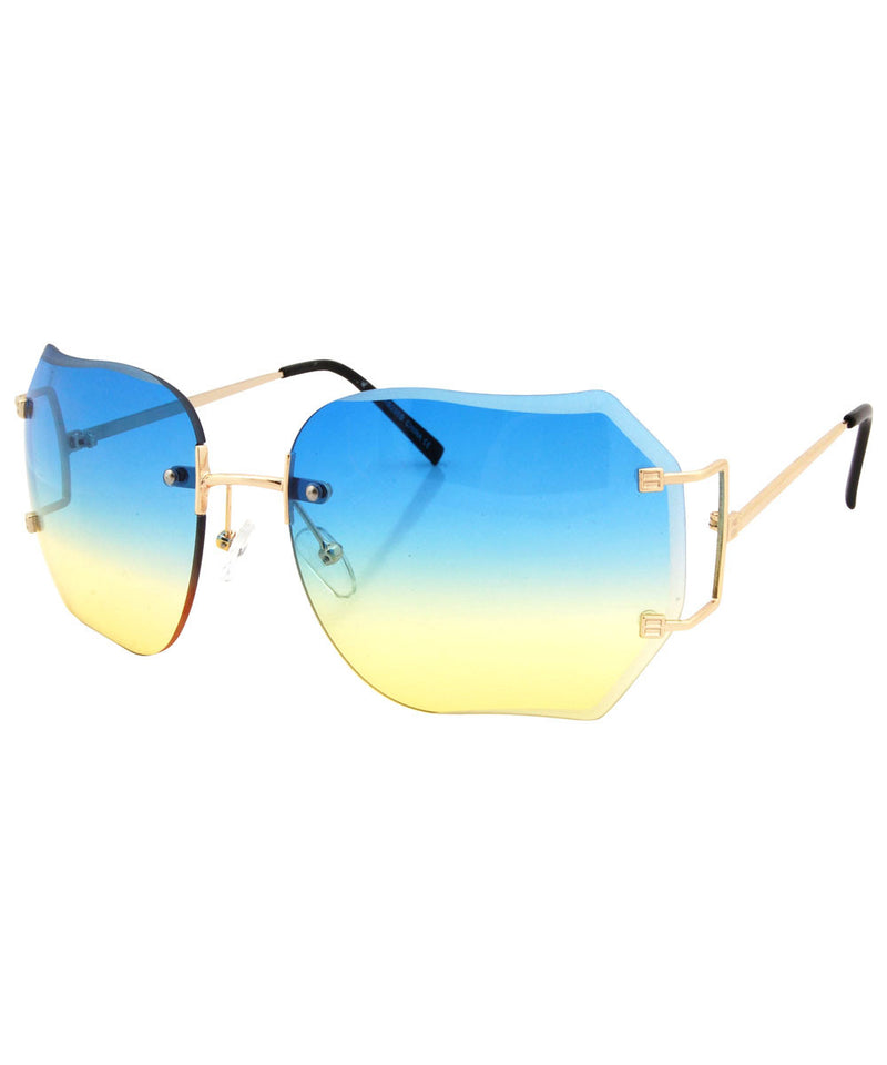chirp blue yellow sunglasses