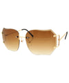 CHIRP Brown Rimless Sunglasses