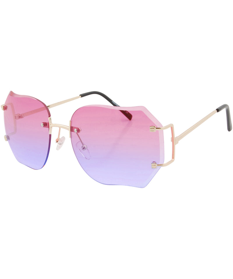 chirp pink blue sunglasses