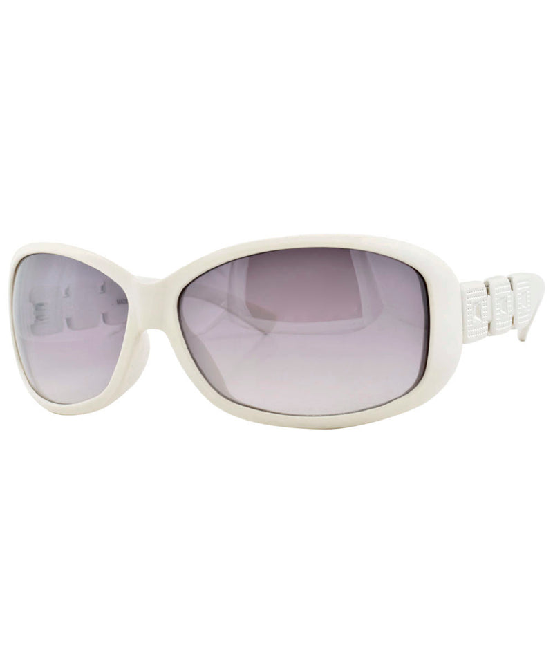 christie white sunglasses