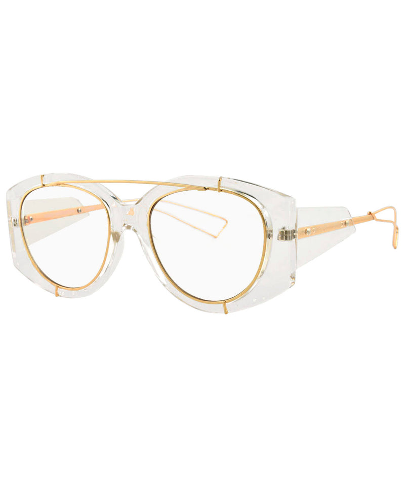 CLEAN Crystal Clear Aviator Glasses