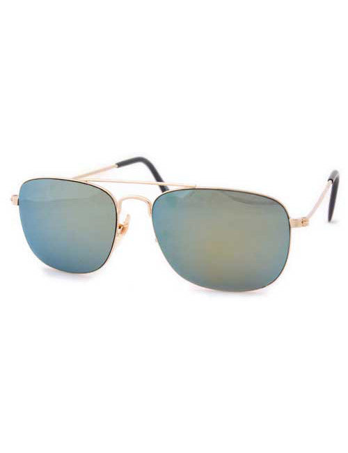 cleat gold mirror sunglasses