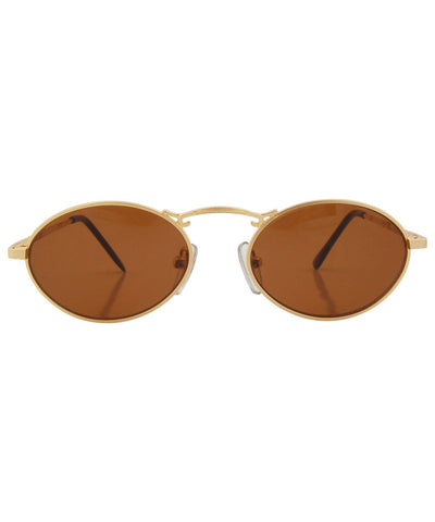 clover gold brown sunglasses