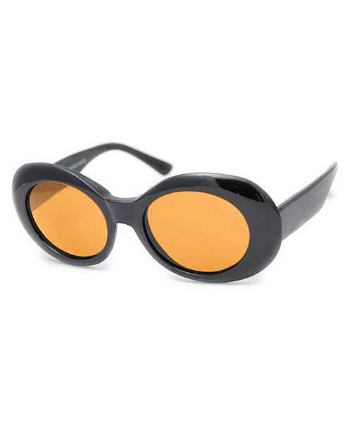 cobain black orange sunglasses