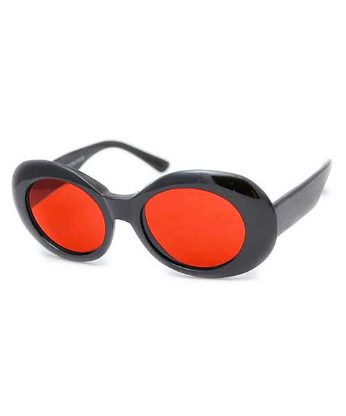 cobain black red sunglasses