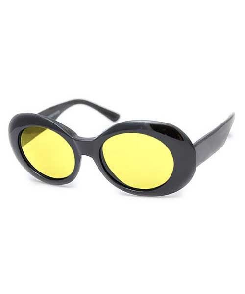 cobain black yellow sunglasses