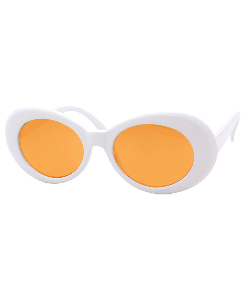 cobain white orange sunglasses