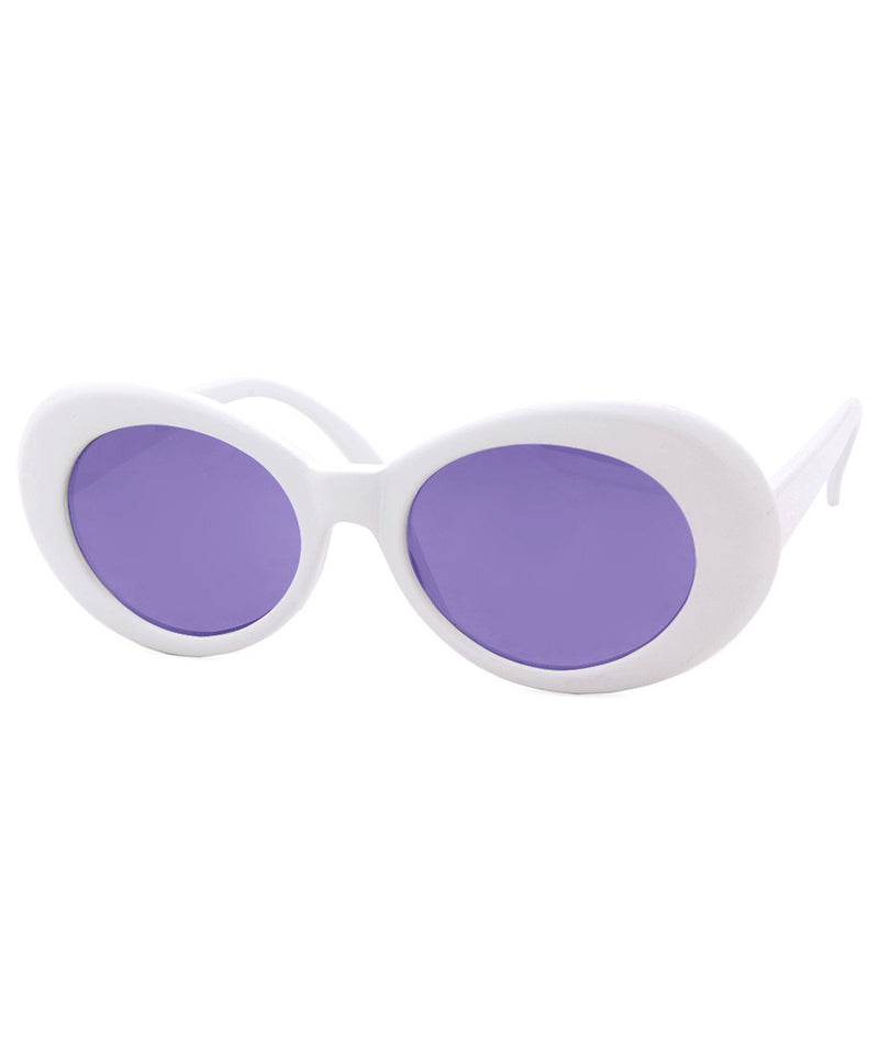 cobain white purple sunglasses