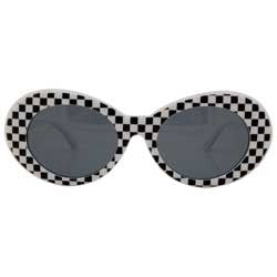 cobain white checkers sunglasses