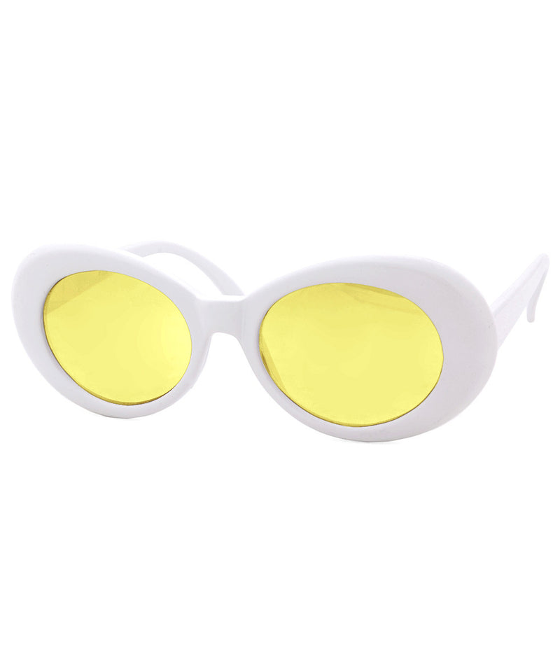 cobain white yellow sunglasses