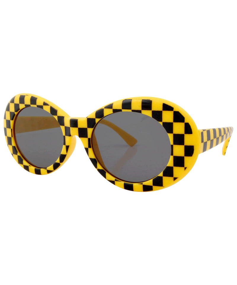 cobain yellow checkers sunglasses