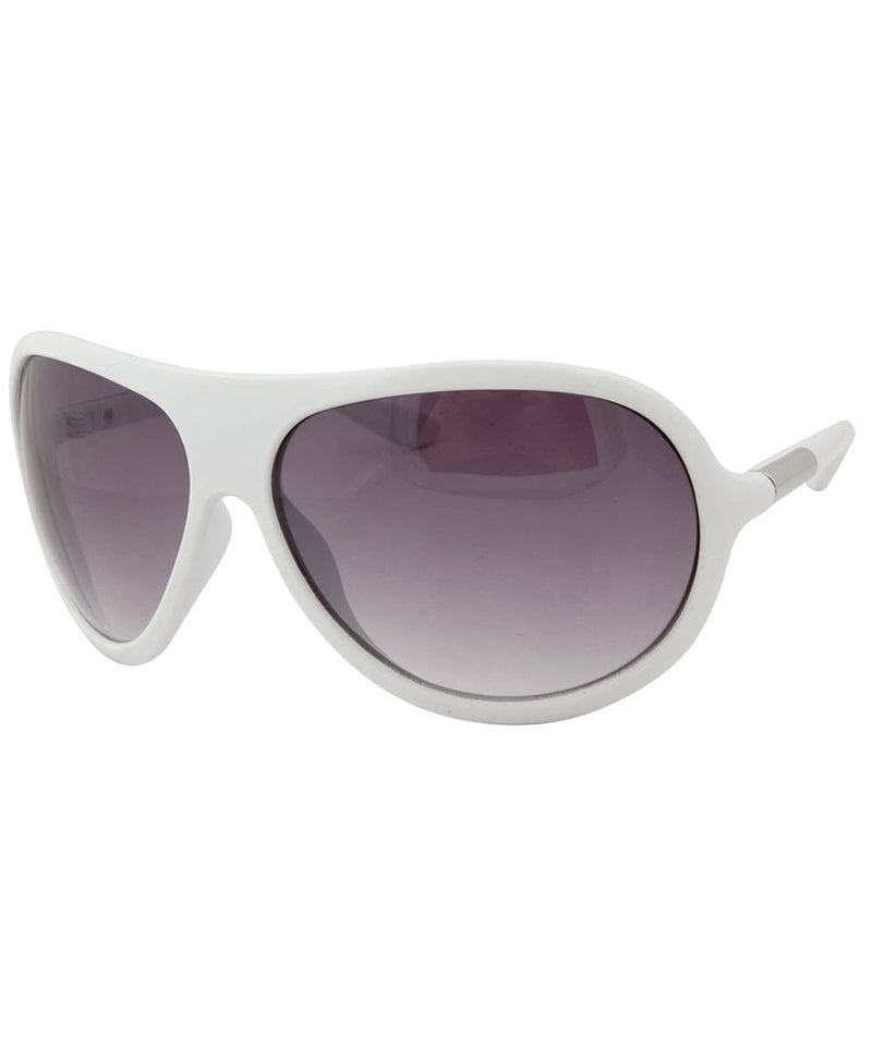 control white sunglasses