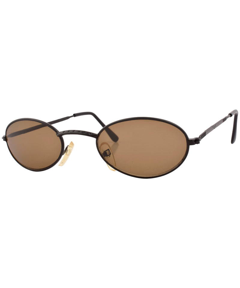 convex black brown sunglasses