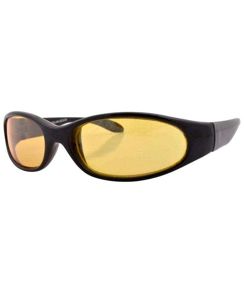 coogie black yellow sunglasses