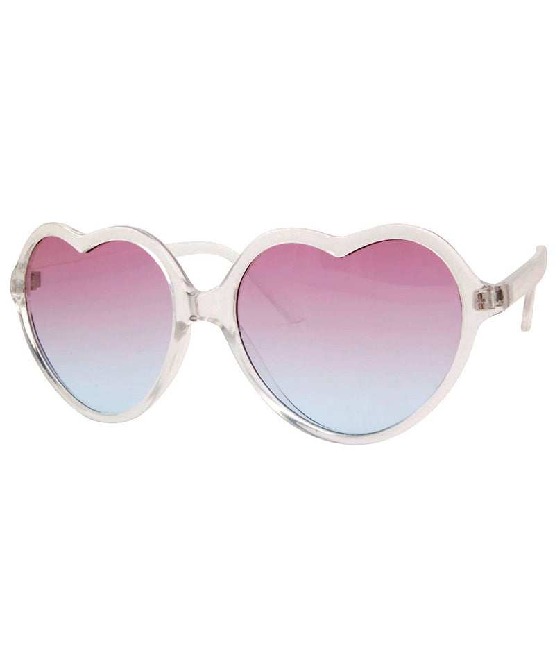 corazon pink blue sunglasses