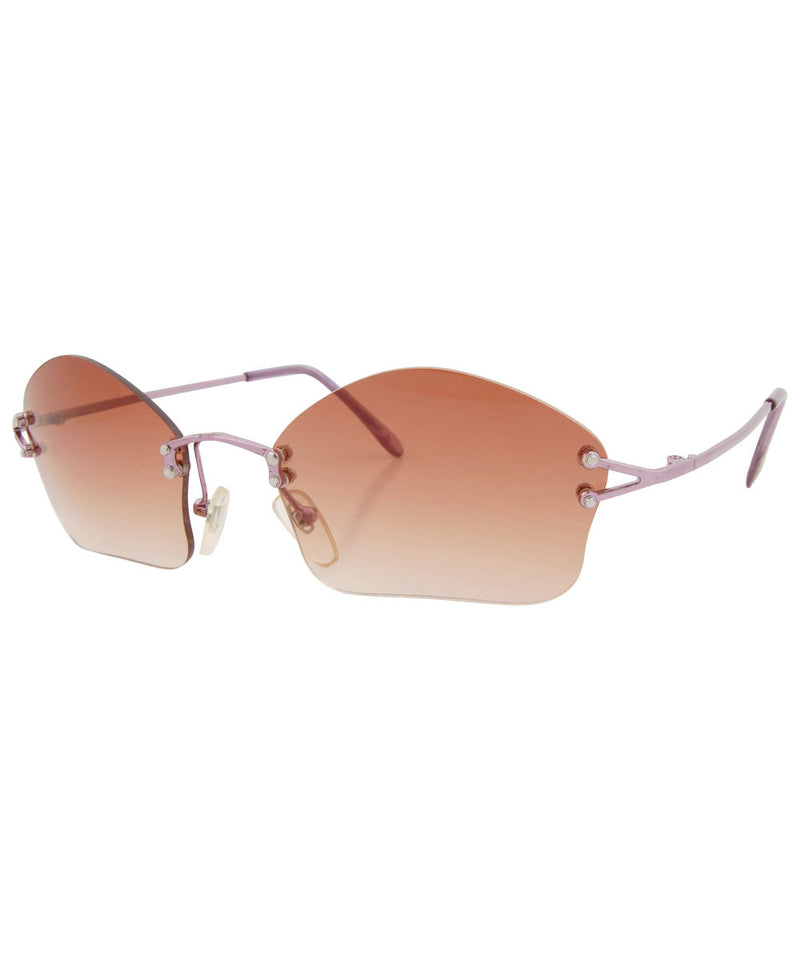 cosmic brown pink sunglasses