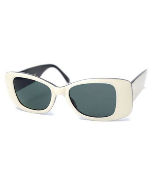 crawford white sunglasses