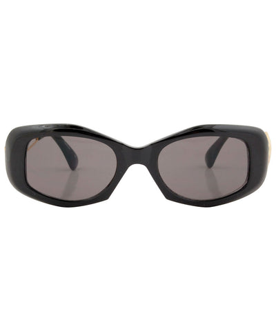 creamy black sunglasses