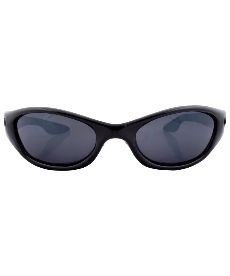 crossed black sunglasses