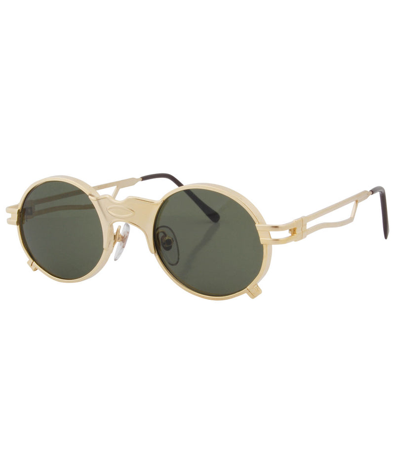 crowned gold sunglasses